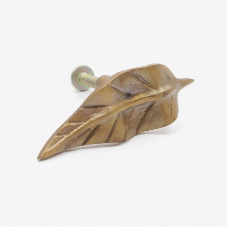 Antique Brass Leaf Handle