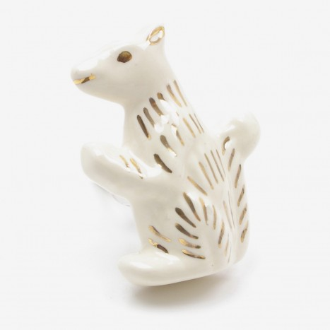 Ceramic Squirrel Drawer Knob