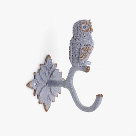Winter Owl Coat Hook