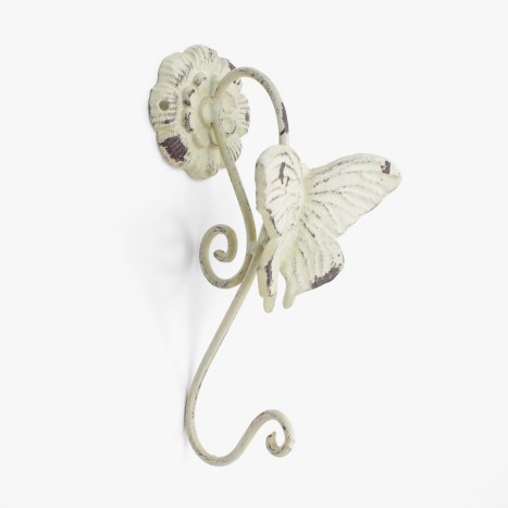 Large White Butterfly Coat Hook