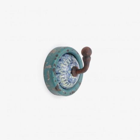 Petrol Print Coat Hook - Blue