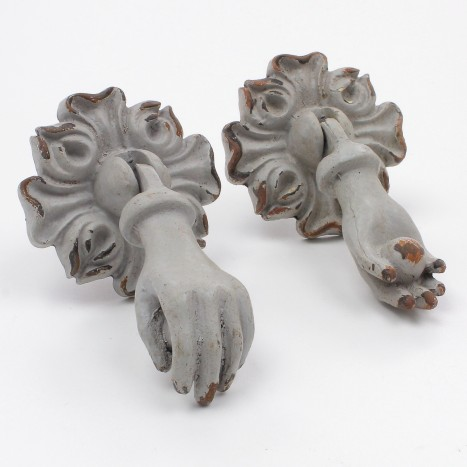 Her Hands Drawer Pulls - Grey
