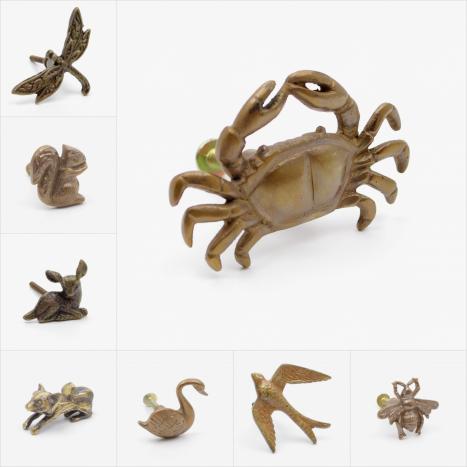 Animal Brass Cupboard Knobs
