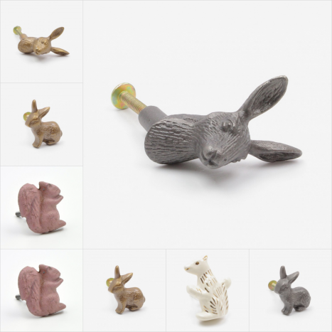 Rabbits & Squirrels Cupboard Knobs