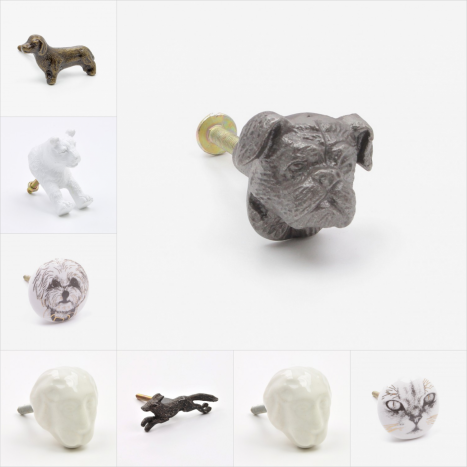Cats & Dogs Cupboard Knobs