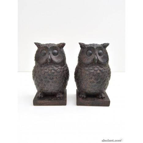 Dusky Owl Bookends Duo