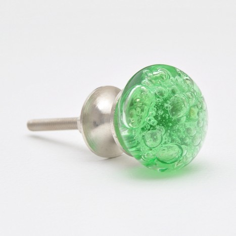 Green Coloured Round Bubble Drawer Knob