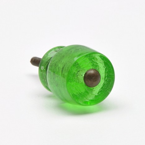 Quality Green Coloured Glass Cupboard Knobs