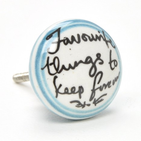 Handwriting Ceramic Cupboard Knob