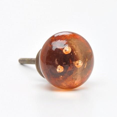 Vintage Orange / Amber Glass Cabinet Knobs
