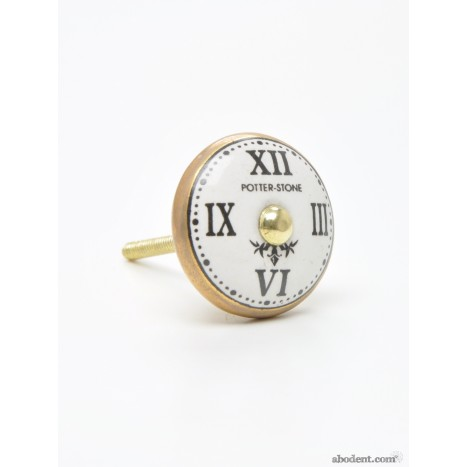 Golden Clock Face Knob
