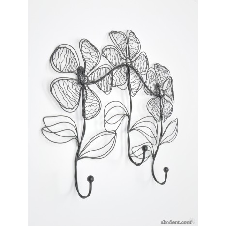 Wire Flower Coat Rack