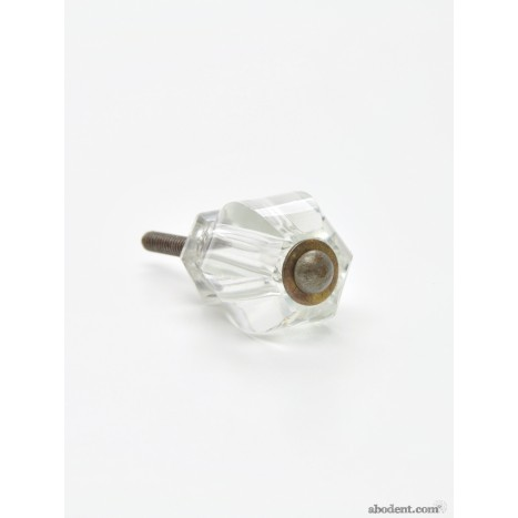 Clear Cut Hexagon Cupboard Knob