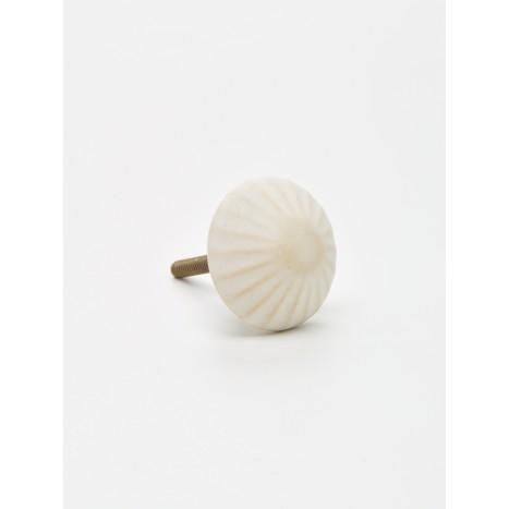 Sandy White Mushroom Knob
