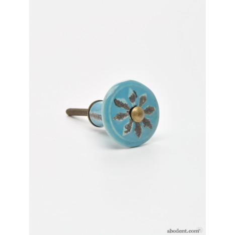 Tired Turquoise Cupboard Knob