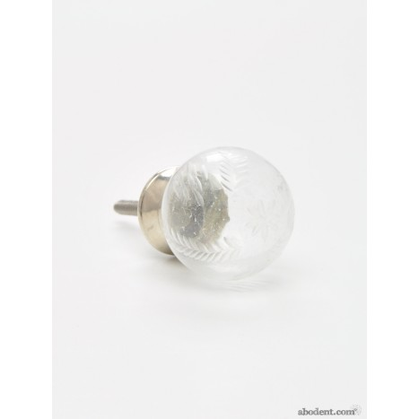 Cut Glass Globe Cupboard Knob