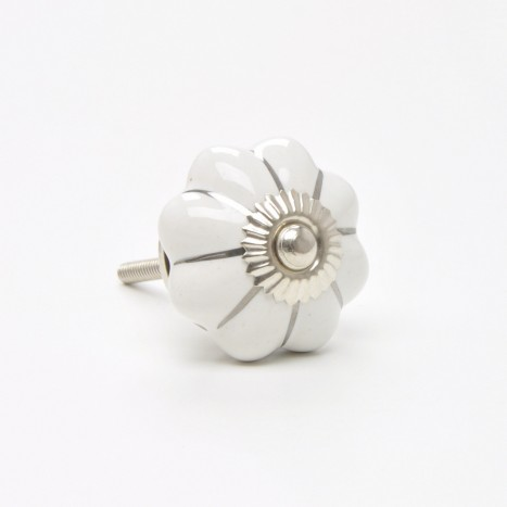 Silver Star Ceramic Knob
