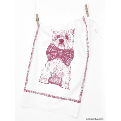 Highlands Westie Tea Towel