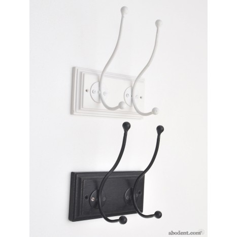 Wall Mount Duo Coat Hooks