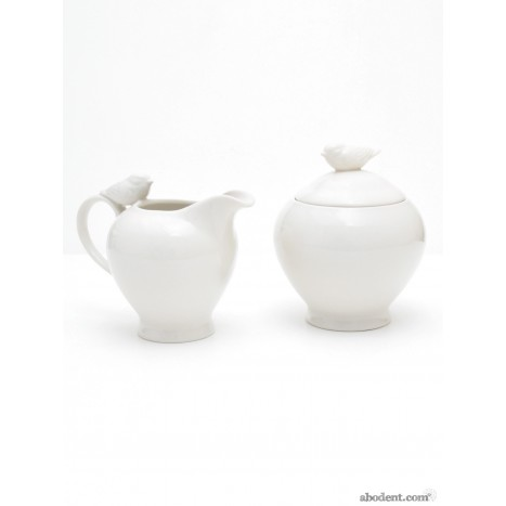 Fantail Dove Jug and Sugar Bowl