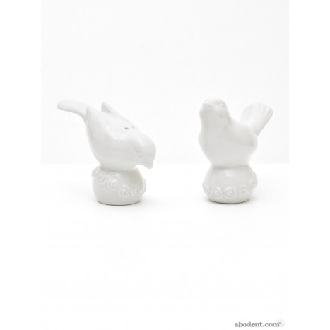 Fantail Dove Salt and Pepper Shakers
