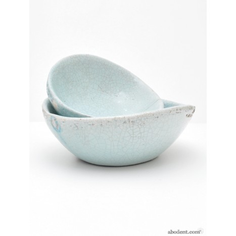 Crackled Duck Egg Bowls