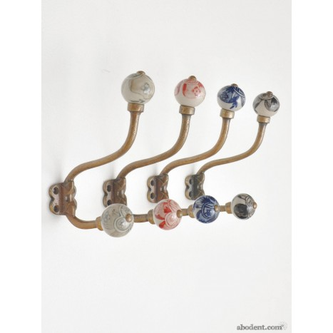 Embellished Orb Coat Hook Vintage Style Coat Hook