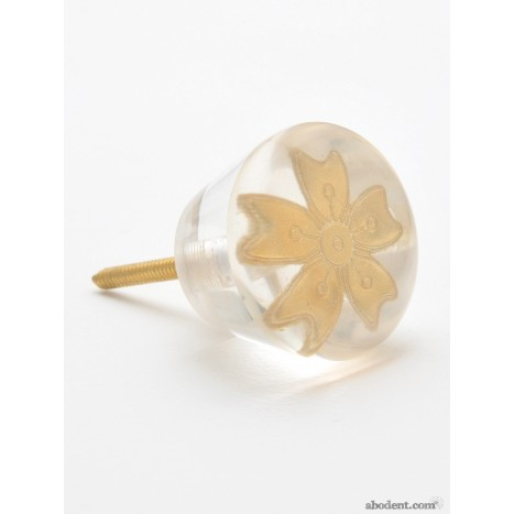 Autumn Gold Flower Knob