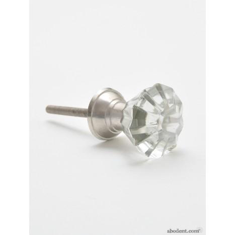 Wedding Ring Glass Cupboard Knob