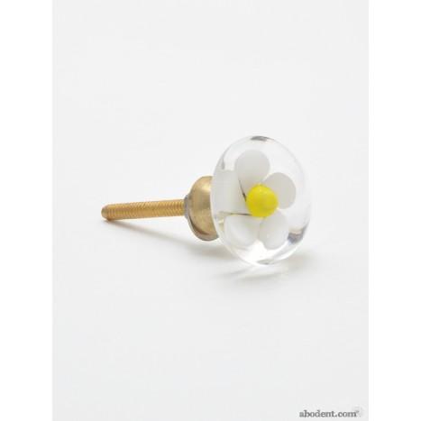 Encased Flower Drawer Pulls (OLW)
