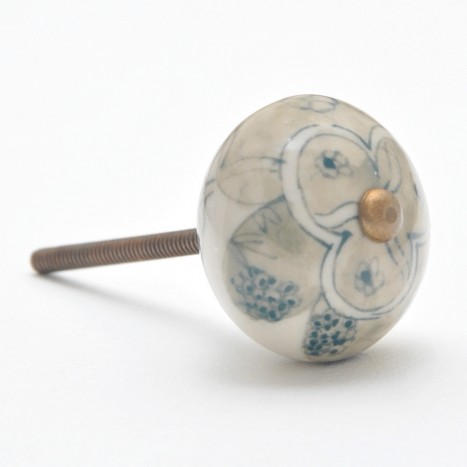 Embellished Orb Cupboard Knob - Green