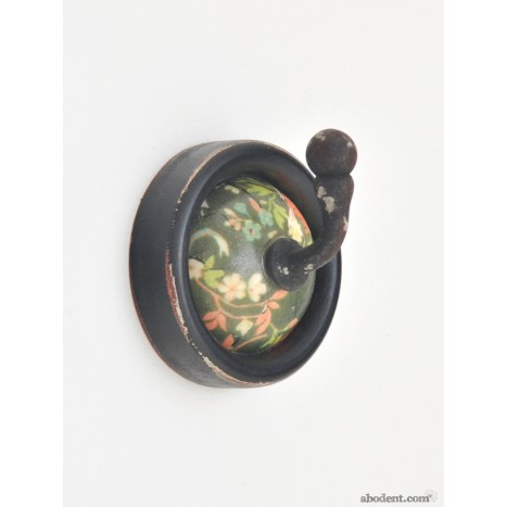 Green Retro Ceramic Hook