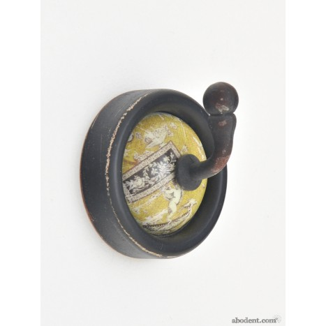 Yellow Retro Ceramic Hook