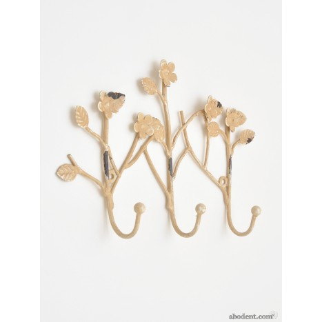 Forgotten Foliage Three Hook Coat Rack