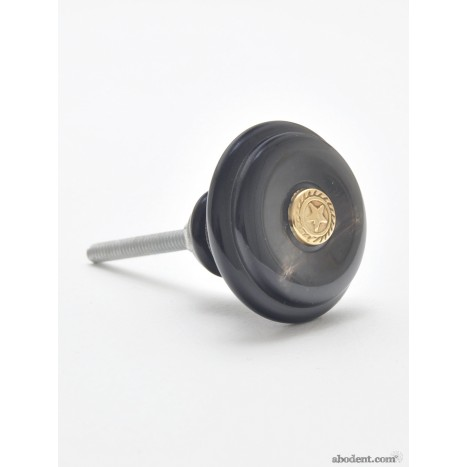 Black And Gold Cupboard Knob
