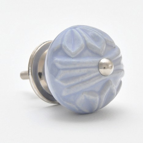 Powder Blue Relief Knob