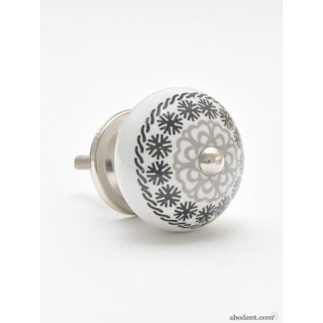 Black & Silver Pattern Knob