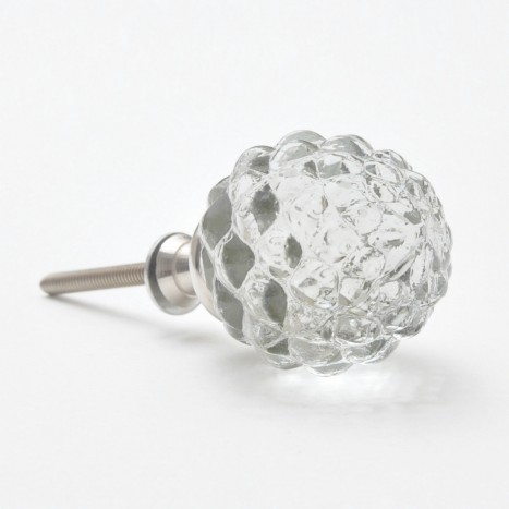 Glass Berry Shaped Cupboard Knob
